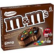 m m s chocolate cookie ice cream sandwiches