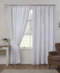 summer white lined voile curtains