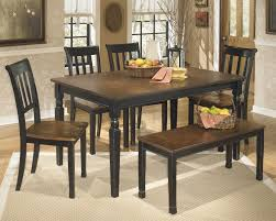 table 4 chairs and bench. owingsville table, 4 side chairs \u0026 bench table and l