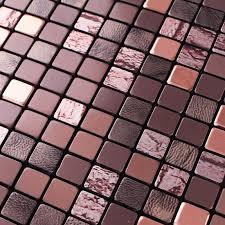 metallic mosaic tile sheets aluminum interior wall paneling bathroom floor sticker kitchen decor art