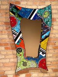Small Picture Glorious Wall Mirror Which Is Decorated With Adorable Mosaic