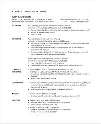 Sample Chemistry Resume Best Of 24 Sample Entry Level Resumes Sample Templates