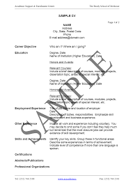 Sample Cv Resume Format Free Resume Example And Writing Download