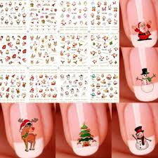 Santa Watermark Details About 1pc Cute Christmas 3d Watermark Nail Art Stickers Santa Claus Nail Decals Decor