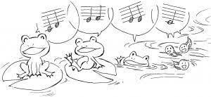 6月イラスト 無料フリー素材 カエルの合唱 うみわたるのイラスト集
