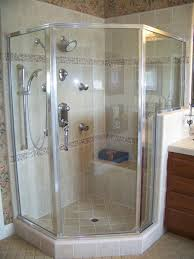 3 panel semi frameless neo angle shower enclosure clear glass