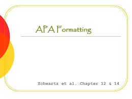 Example Of Running Head Apa Apa Formatting Schwartz Et Al Chapter 12 14 Running Head