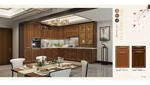 New Design Kitchen Cabinet Simple China America Style Customization Design Solid Wood BRNS48
