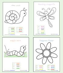 Small Picture Color By Number Preschool Worksheets Worksheets School and