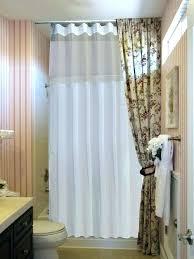ceiling shower curtain over sliding glass doors track rod