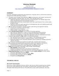 Senior Net Developer Resume Sample Free Download Sql Server