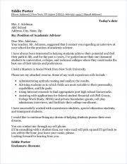 faculty cover letters academic advisor cover letter sample