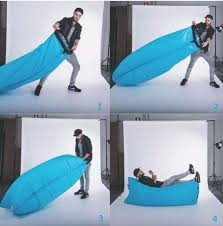 inflatable lounge furniture. Outdoor Inflatable Sleeping Bag Mat Lamzac Hangout Camping Lightest Beach Lounge Chair Furniture E
