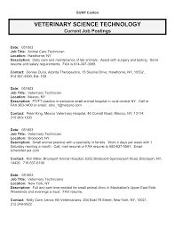 resume for vet tech resume builder for job resume for vet tech veterinary technician resume occupationalexamples best photos of template of job description for