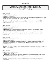 resume for vet tech resume builder for job resume for vet tech veterinary technician resume occupationalexamples best photos of template of job description for
