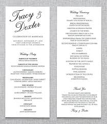 Wedding Party Program Template Wedding Ceremony Program Template 36
