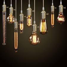 hot edison lighting filament light bulb st64 retro lamp 220v