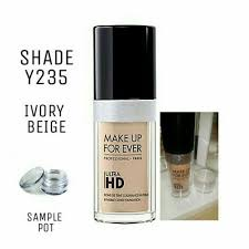 makeup forever ultra hd foundation mini sle pot shade y235 ivory beige ebay