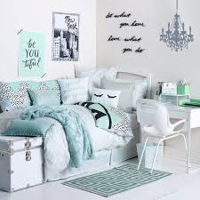 bedroom ideas for teenage girls teal. Gabby Teal, Pale Blue, And White Dorm Room Bedroom Design Ideas For Teenage Girls Teal