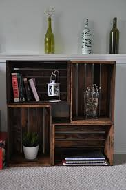 fabartdiy wood wine crate ideas and projects wood crate book case