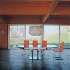 contemporary dining table glass nabucco by bacher