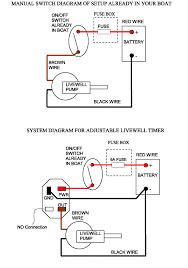 basic livewell timer installtion diagram