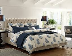 Bedroom Ideas   Chesterfield   Pottery Barn Inspiration. Dark Night Stands,  Cream Bed Frame