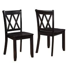 Amazon.com - Vilnius Contemporary Wood Cross Back Black Dining Chair, Set of 2 Chairs Chair
