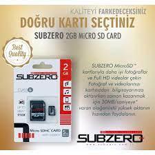 Subzero 2GB Micro SD Hafıza Kartı Class Fiyatları ve Özellikleri