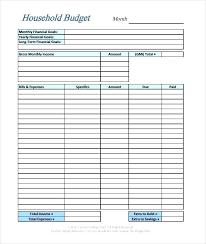 Monthly Bill Spreadsheet Template Printable Budget Worksheet