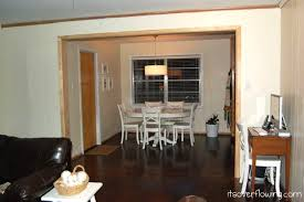 i realized that having my table span the length of the window took away from the natural flow of traffic see below although our kitchen isn t a galley