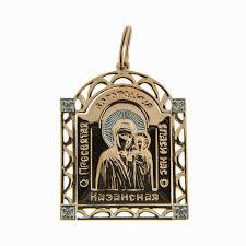 <b>Золотая иконка</b> с фианитами ЮПП1325221 | Купить в интернет ...