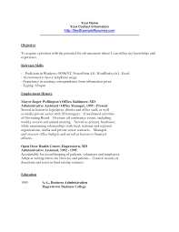 Clerical Resume Objectives Best Photos Of Office Clerk Resume Samples General Office