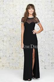 Size Abendkleid mit Ärmeln in schwarz Satin