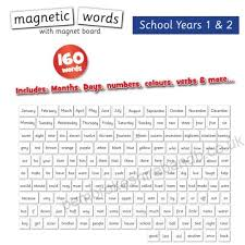 Doowell Activity Charts Words Years 1 2 Magnetic Activity Chart National