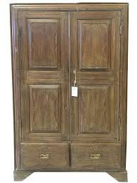 Antique Armoire Indian Furniture Vintage Teak Cabinet Bedroom