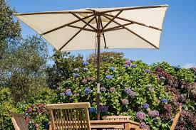 cream wooden garden parasols ottena