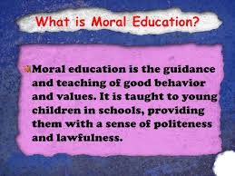 moral education 3 what is moral education
