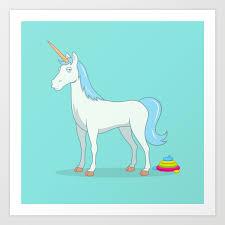 Unicorn Poop Art Print by seemikedraw | Society6