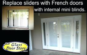 sliding glass door replacement replace doors with french garden roller cost