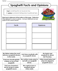 Fact Vs Opinion Anchor Chart Fact And Opinion Worksheets