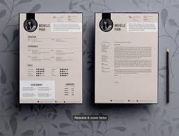 Elegant Resume Modern Elegant CV Template Resume Templates Creative Market 11