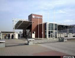 Восточный КПП завода airbus Гамбург вход въезд пандус  Восточный КПП завода airbus