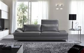 Casa Izzy Modern Dark Grey Leather Sofa
