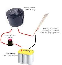 buy 12v led round rocker switch remotes switches on off rocker switch wiring diagram