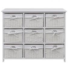 hall console table white. Hall Console Table White Wooden Wicker Shoe Baskets Drawer Cabinet Hallway Unit
