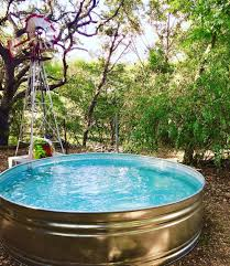 stock tank pool by hill country farm