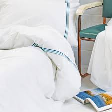 blue corded white duvet cover touch to zoom