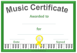 Piano Certificate Template Music Certificate Template Free And Customizable Musical