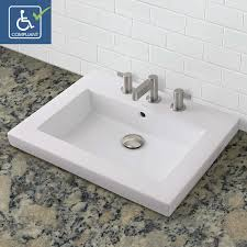 Rectangular Bathroom Sinks Classically Redefinedsupar Sup Rectangular Semi Recessed